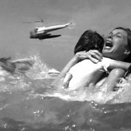 Jaws panic scene